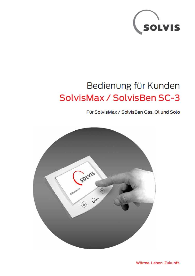 Downloads - Bedienungsanleitung SolvisMax und SolvisBen